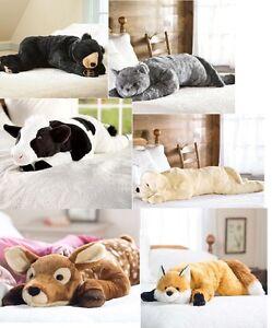giant plush animal large body pillow soft stuffed kids hug maternity support bed ebay. Black Bedroom Furniture Sets. Home Design Ideas