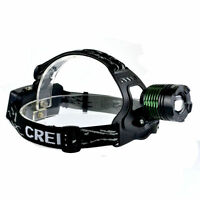 Cree Xml 2200 Lumen T6 Headlamp 18650 Headlight Zoomable Flashlight Light Lamp