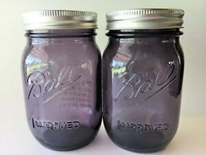 Purple-Vintage-Collection-Ball-Mason-Pint-Jars-Set-of-2-New-Limited-Edition