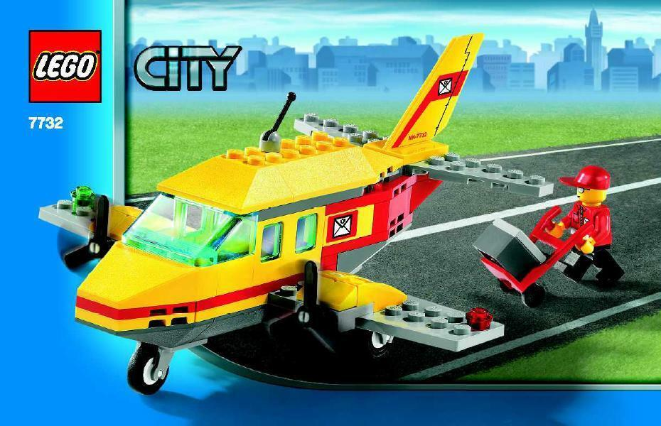 Rare Lego City 7732 discontinued retired Air Mail Plane BRAND NEW SEALED BOX