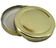Damson Brook 63mm ORO JAM JAR preservare chutney COPERCHI Pacco da 24