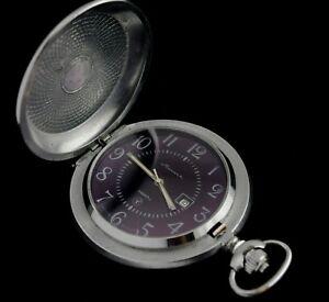 RARE Classic Vintage Soviet Russian Pocket Watch Molnija Quartz 2460 Serviced