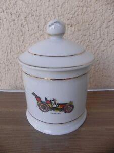 pot couvert porcelaine de limoges decor automobiles anciennes NifQQmmq-09102518-482824271