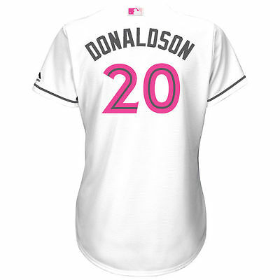 pick up 90540 0fb86 Women's Toronto Blue Jays 2017 Josh Donaldson White Mother's Day Cool Base  Small | eBay
