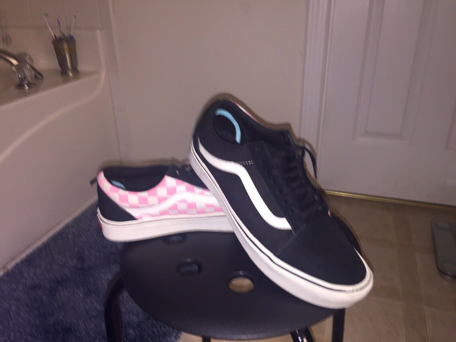 VANS OLD SKOOL Pink CHECKERBOARD SKATE SHOES OFF THE WALL MENS SIZE 9 WOMENS10.5