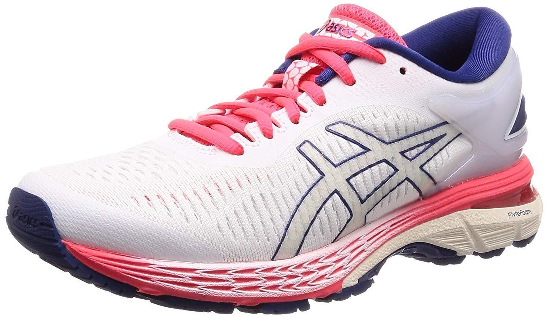 Zapatos De Entrenamiento Asics Lady Gel-Kayano 25 estrecho 1012A019 blancoo blancoo US8 (25cm)