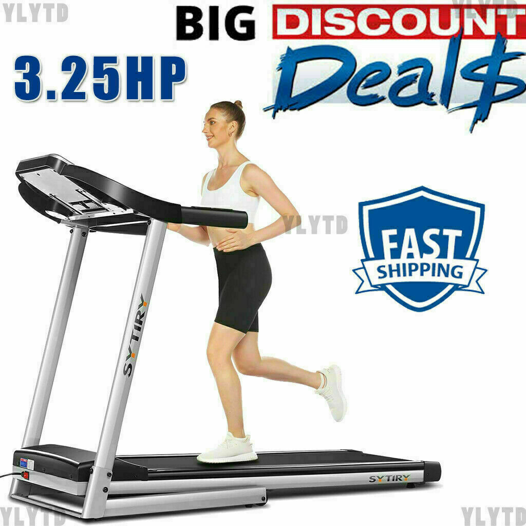 """3.25HP Treadmill Electric Folding Running Machine with 12"""" HD Touchscreen LCD["""