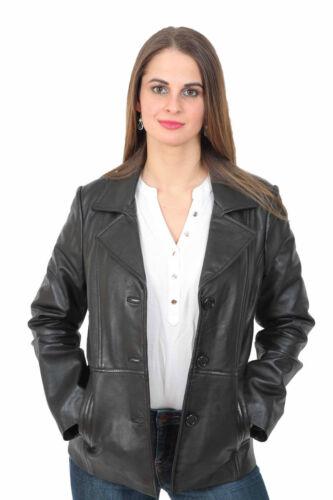 élégant pour cuir veste souple femme en Blazer d'agneau manteau cintrée P5qvnXqxt