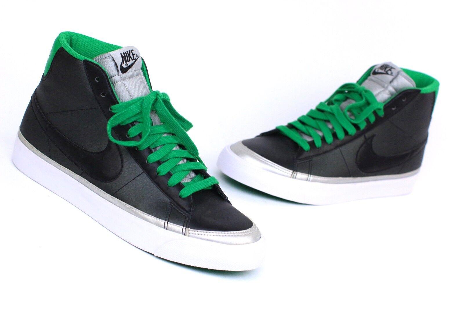 2009 Nike Blazer Blazer Blazer Mid Premium ND Sample Sz 10 Black Lucky Green Silver 371761-003 585eed