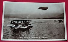 RARE CPA ANNEES 1930 AVIATION HYDRAVIONS AERONAVALE DIRIGEABLE EXERCICE