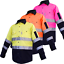 Hi-Vis-Work-Shirt-Light-Cotton-Drill-Safety-155GSM-Vents-Back-Cape-3M-Tape thumbnail 2