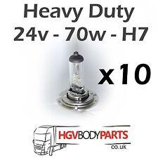 24v H7 Light Bulbs 70W for Commercial Vehicles x10