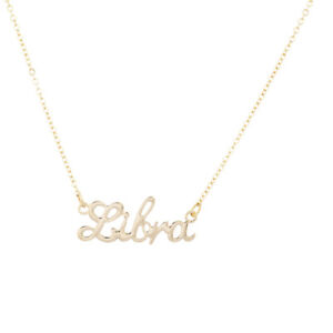 Details about Lux Accessories Horoscope Zodiac Sign Libra Gold Necklace