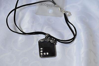 Nett Modische Halskette Mit Anhänger Schwarz Mit Strass Fabriken Und Minen Uhren & Schmuck Halsketten & Anhänger