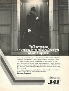 1977 Original Advertising' Vintage American SAS Scandinavian Airlines System Jap