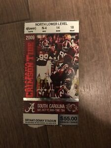 2009 Alabama Vs South Carolina Ticket Stub | eBay