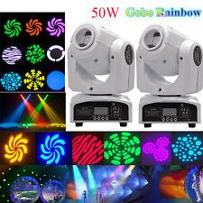 2PCS 50W RGBW Beam LED Moving Head Stage Light DMX Disco DJ Party Gobos Lighting