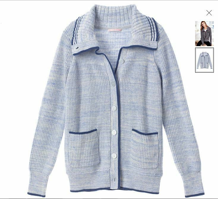 VICTORIA'S SECRET SWEATER CARDIGAN VARSITY NEW blueE SIZE SMALL UNIQUE & PERFECT