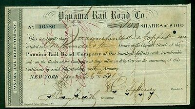 US #RN-T4, 25¢ Revenue Stamped paper (yellow-orange) 1871 Panama (Canal) RR