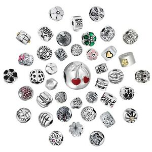 Love-Heart-Clips-Charms-Bead-Fit-925-Silver-Sterling-Bracelets-Necklace