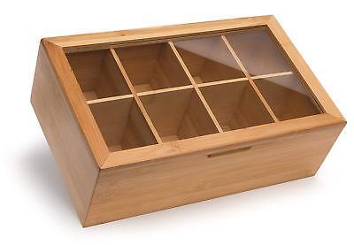 Caja Organizadora de Cocina con Girasoles Caja para Bolsitas de T/é y Infusiones 4 compartimentos