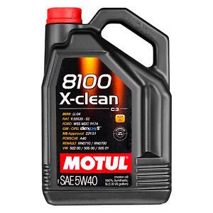 5-Lt-Olio-Motul-8100-X-clean-Xclean-5W40-C3-FIAT-9-55535-S2-MERCEDES-MB229-51