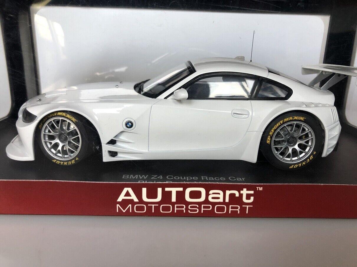hasta un 70% de descuento 1 18 AUTOart BMW Z4 Z4 Z4 Coupe Race Coche Plain Body Version  ventas de salida