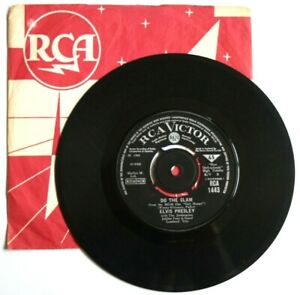 EX-EX-Elvis-Presley-Do-The-Clam-You-039-ll-Be-Gone-7-034-Vinyl-45-RCA-1443