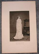 ANTIQUE SHAKESPEARE PLAY THEATRE ACTRESS MISS NEILSON JULIET WHITE GOWN PRINT