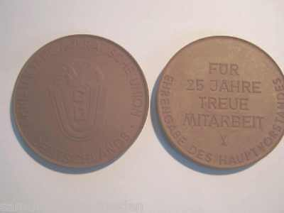 FleißIg 15084 Meissen Medaille 25 Jahre Treue Cdu Ddr Böttgersteinzeug Medal Elegant Im Stil