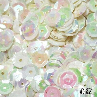 2000 pcs DIY Oval Round Cup Sequins Paillettes Loose AB 6mm Wedding Craft