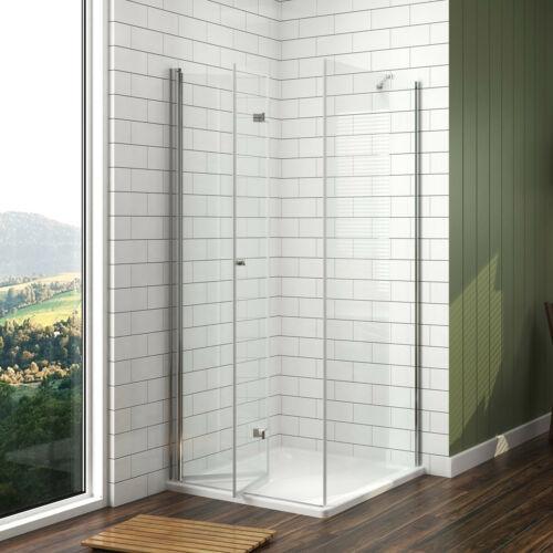 Dusche Falttür Mit Seitenwand Duschkabine ESG Glas Duschabtrennung Eckeinstieg