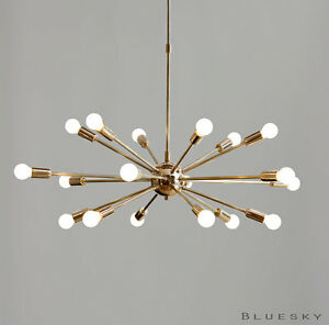 Details About 18 Lights Arms Sputnik Starburst Light Fixture Chandelier Polished Br