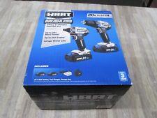 Hart brushless drill /& impact driver kit Hpck2528 2.0ah batteries charger 2