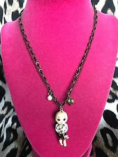 Betsey Johnson Vintage Dollhouse Doll House Boy Cupid Cupie Necklace VERY RARE