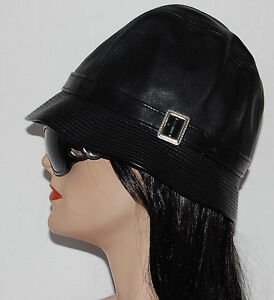 Image is loading NEW-BURBERRY-by-Philip-Treacy-Womans-Black-Leather- 30a28d2f8d4