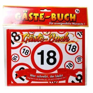 Geburtstag Gästebuch 18 Jahre Verkehrsschild Party Deko Gäste - Buch (8.99€/1EA)