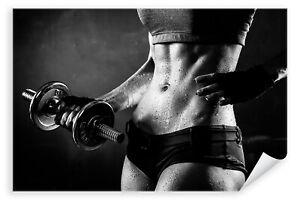 Postereck-3014-Poster-amp-Leinwand-Frau-Fitness-Sport-Training-Bodybuilding