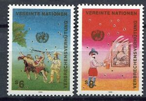 19372-UNITED-NATIONS-Vienna-1990-MNH-Crime-Prevention