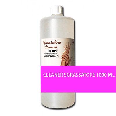 CLEANER SGRASSATORE 1000 ML KIT RICOSTRUZIONE UNGHIE MANICURE