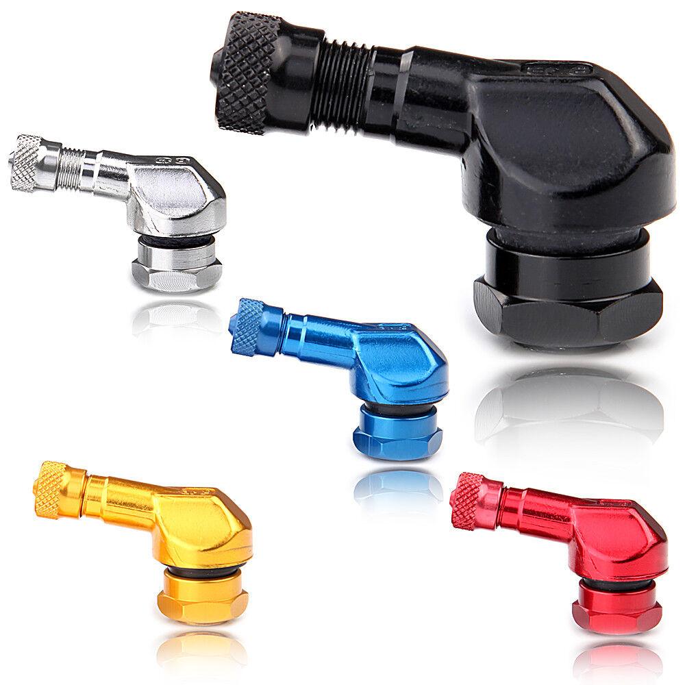 ventilverl/ängerung Reifenventile Black 2 st/ücke 11,3mm Universal Felgenventile Motorrad Aluminiumr/äder Reifen Ventilkappen Kappen 90 Grad