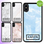 miniatura 1 - For iPhone 12 Pro Max 11 XS Case Marble IV Personalised Text Initial Custom Name