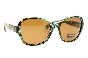 49e9d310a68 Image is loading Kirkland-Signature-Women-039-s-Aqua-Tortoise-Sunglasses-