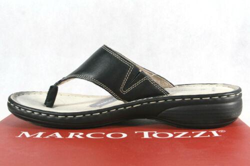 Marco Tozzi Orteils Séparateur zehenstegpantoletten Mules Noir 27902 NOUVEAU!