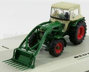UNIVERSAL HOBBIES 1/32 DEUTZ | D6005 4WD TRACTOR CLOSED WITH FRONT LOADER 196...