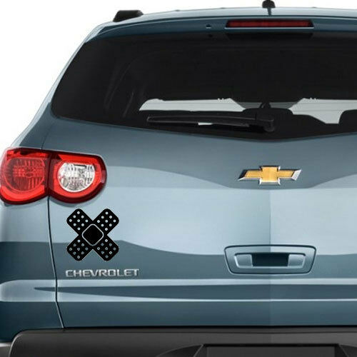 Bandaid Cross Vinyl Decal Sticker for Home Window Wall Auto Car Truck SUV Boat