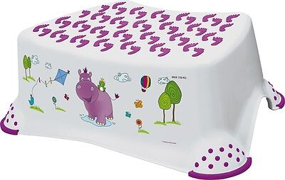 Happy Friends Hippo Child Toddler Toilet Training Seat /& Step Stool Combo White