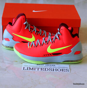 online store 29131 a4bf2 Image is loading NIKE-ZOOM-KD-V-5-DMV-BRIGHT-CRIMSON-