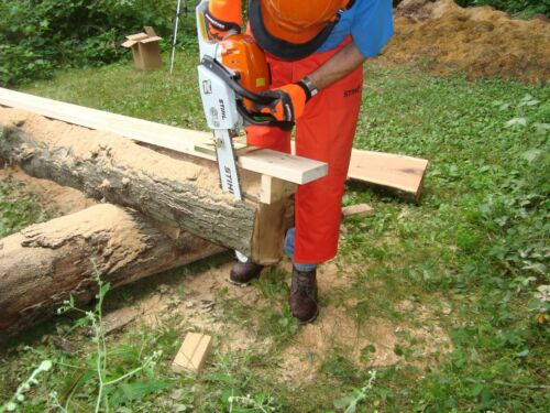 log homes beams planks Lumber cutting chain saw mill guide attachment boards
