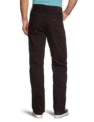 Lee Brooklyn Denim Jeans New Men's Black Washed Regular Comfort Denim Pants